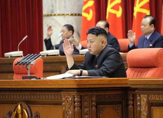 북한 노동당 중앙위원회 전원회의를 주재하는 김정은 국방위원회 제1위원장 ⓒ조선중앙통신=연합뉴스