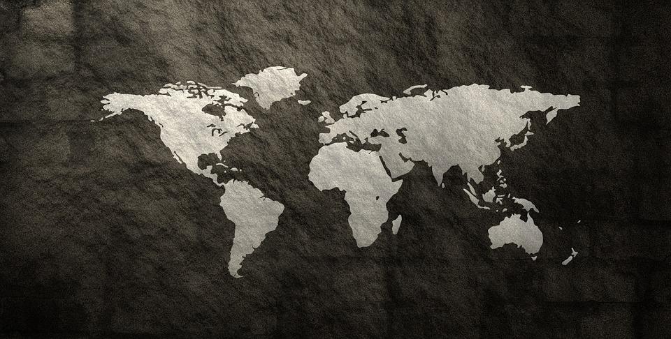 세계 지도 글로브 무늬 텍스처 서식 파일 추상 배경 화려한world-987594_960_720