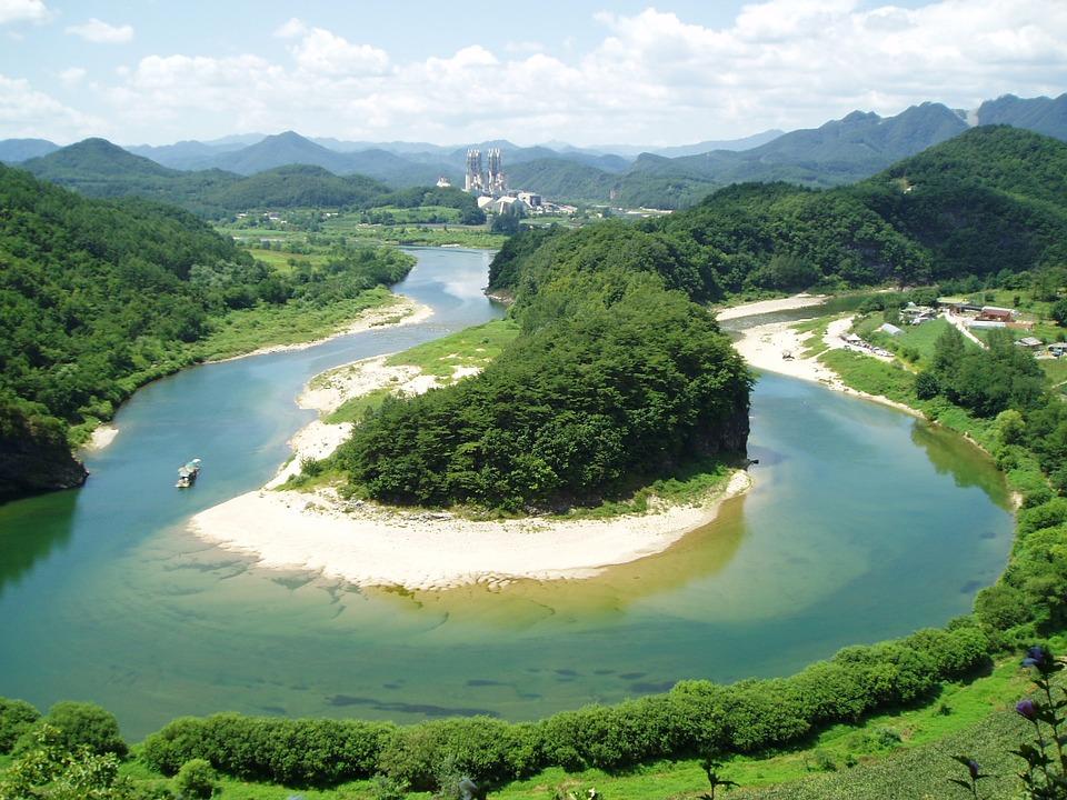 한반도 지형 동강 강원도 영월 the-terrain-of-the-korean-peninsula-987486_960_720