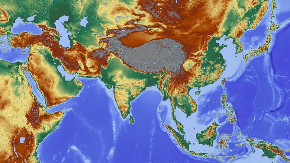 asia-1804894_960_720 아시아 지도 동북아 동아시아